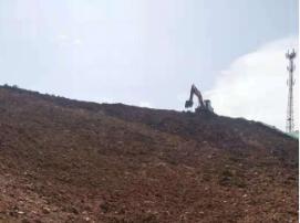 治理Ⅰ区种植土续坡回填施工