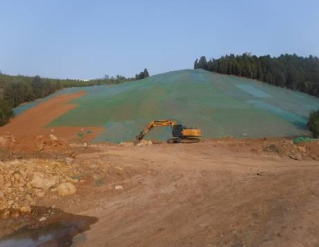 治理Ⅱ区种植土续坡回填施工