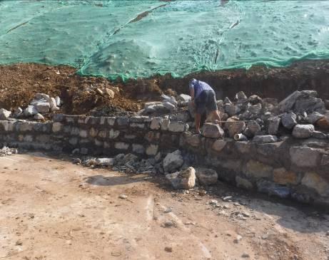 治理Ⅰ区 挡土墙施工