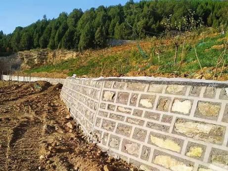 治理Ⅰ区 挡土墙施工完成效果